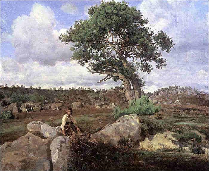"""Qui a peint """"Les Rochers à Fontainebleau"""" ?"""