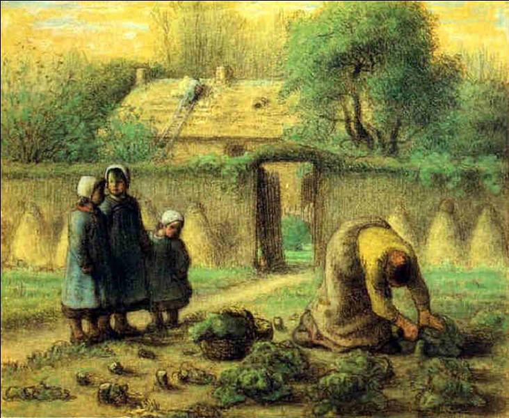 Cette toile représente son jardin de famille :