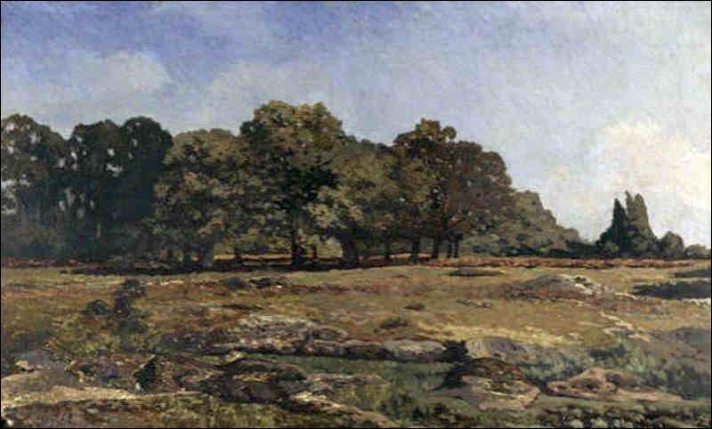 Qui a peint la lisière de la forêt de Fontainebleau ?