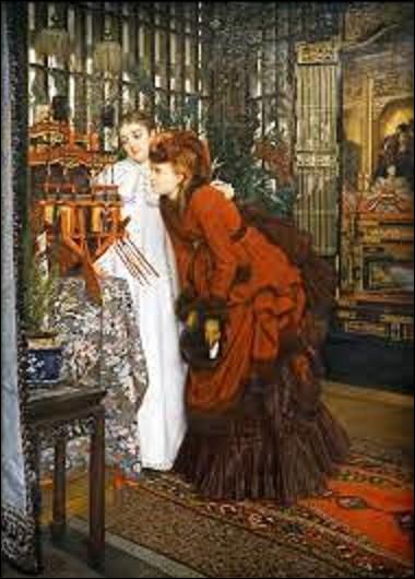 À quel peintre doit-on cette peinture intitulée ''Jeunes femmes regardant des objets japonais'' en 1869 ?
