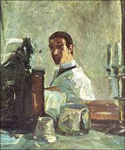 ''Autoportrait devant un miroir'' est une toile réalisée par un postimpressionniste entre 1882 et 1883. Qui s'est dépeint sur ce tableau ?