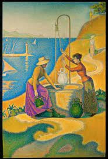 À quel pointilliste doit-on cette peinture intitulée ''Femmes au puits'' en 1892 ?