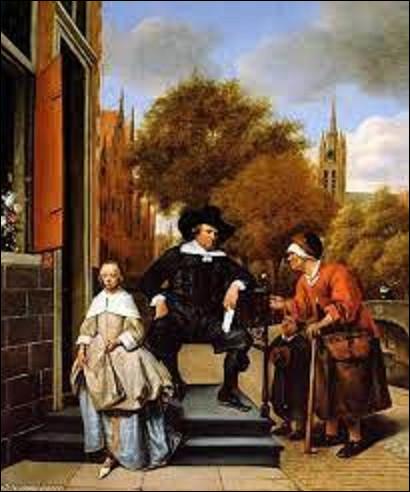 ''Le Maire de Delft et sa fille'' est un tableau réalisé par un baroque en 1655. Quel peintre a immortalisé cette scène ?
