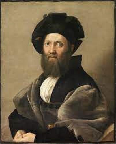 Toile réalisée entre 1514 et 1515, cette peinture représente l'écrivain, poète et diplomate italien Baldassare Castiglione. Quel peintre de la Haute Renaissance est l'auteur de ce portrait ?