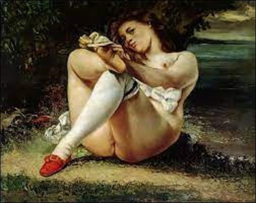 Réalisé en 1864, ce tableau intitulé ''La Femme aux bas blancs'' est l'œuvre d'un réaliste. De qui est cette huile sur toile ?