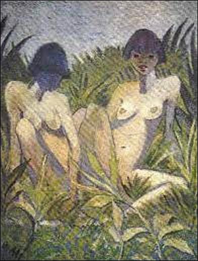 Quel expressionniste a exécuté vers 1920 cette toile dénommée ''Deux filles dans les roseaux'' ?