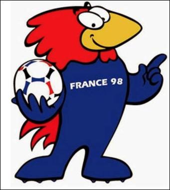 Qui est ce personnage, un coq, mascotte de la Coupe du monde de football de 1998 qui s'est déroulée en France ?