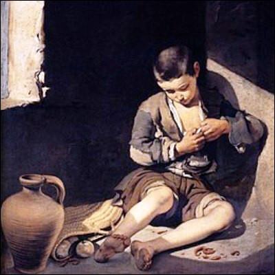 """Quel peintre espagnol, chef de file de l'école de Séville, est l'auteur de la toile """"Le Jeune mendiant"""" ?"""