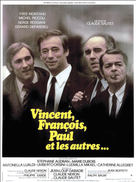 """On me voit dans """"Vincent, François, Paul... et les autres"""" et """"Habemus papam"""". Je m'appelle :"""