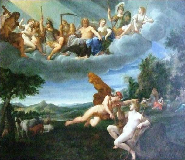 Quel dieu Admète a-t-il eu à son service pendant un an sur ordre de Zeus pour garder ses troupeaux ?