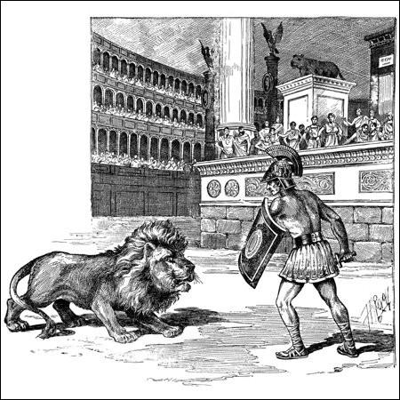 Gladiateur chez les Romains, qui s'occupait des fauves et les combattait !