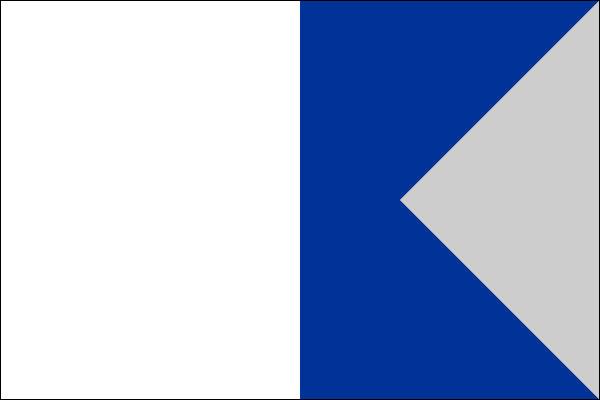 """Ici, on se parle aussi en drapeaux (des pavillons !) : Celui-ci est le 1er, par ordre alphabétique, donc """"ALFA"""". Que signifiet-il ?"""