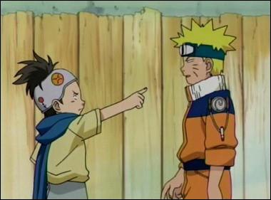 Que dit Konoha-Maru quand il se fait frapper par Naruto ?
