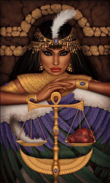 Mythologie : quelle déesse égyptienne qui incarne l'équilibre en toutes choses est représentée coiffée d'une plume d'autruche ?