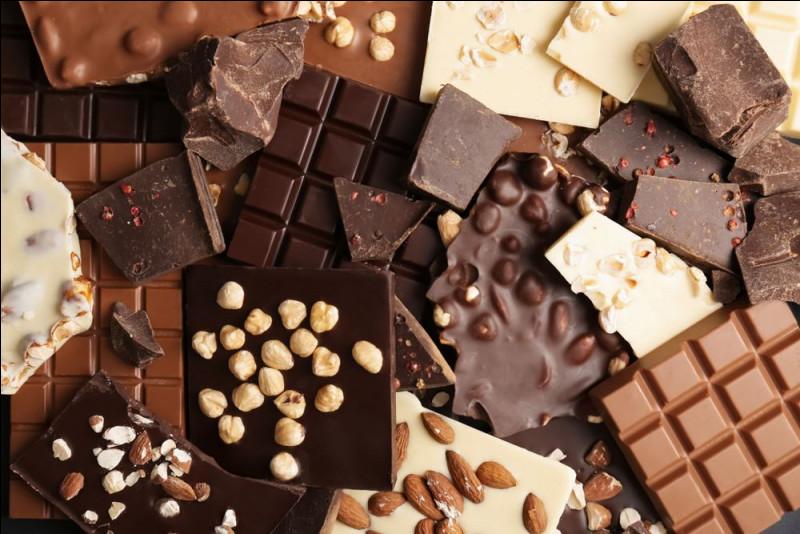 En quelle année le chocolat est-il arrivé en France ?