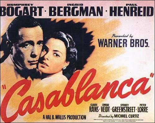 """Je suis à l'écran de """"Casablanca"""" et de """"Key Largo"""".Je suis :"""