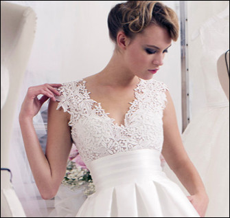 Quelle dentelle est utilisée pour les robes de mariée ?