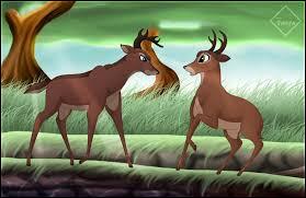 """Dans le film Disney """"Bambi"""", comme se nomme ce jeune cerf, rival de Bambi ?"""