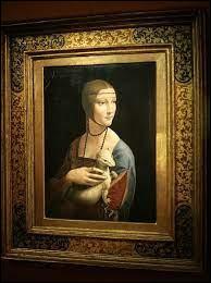 """Qui a peint ce tableau intitulé """"La dame à l'hermine"""" ?"""