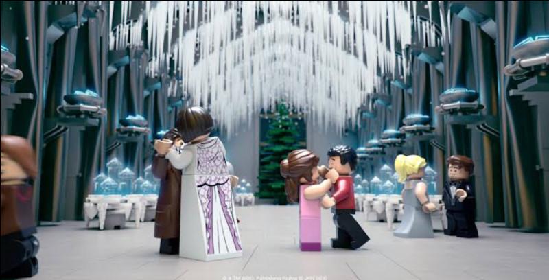 Dans le tome 4 : Hermione va danser avec..., Harry avec..., Ron avec..., Fleur Delacour avec..., Cedric Diggory avec...