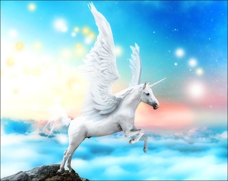 Quel est ce cheval fantastique doué de capacités magiques et qui a la faculté de voler ?
