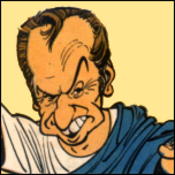 """Quel animateur de jeux télévisés est caricaturé par le romain Guilus, à l'occasion de la loterie organisée dans l'album """"Le Domaine des dieux"""" ?"""