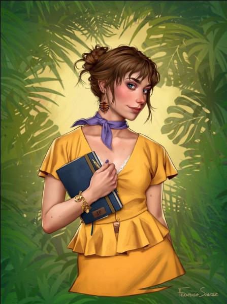 Qui est cette jolie jeune femme qui ose s'aventurer dans la jungle ?