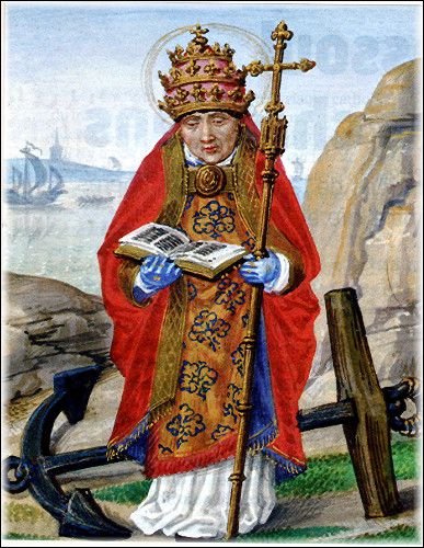 En quelle année le règne de Saint-Clément s'arrête-t-il ?