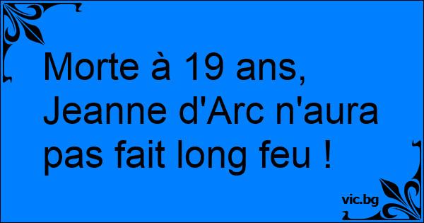 Quel opérateur téléphonique utilisait Jeanne d'Arc ?(réponse en commentaire)