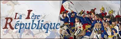 En quelle année la 1ère République a-t-elle été constituée en France ?