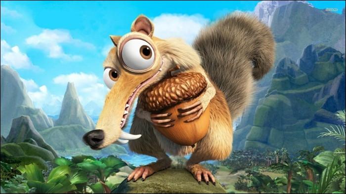 Je suis un écureuil très connu pour être obsédé par un gland, mettant constamment ma vie en danger pour l'attraper, je m'appelle ?