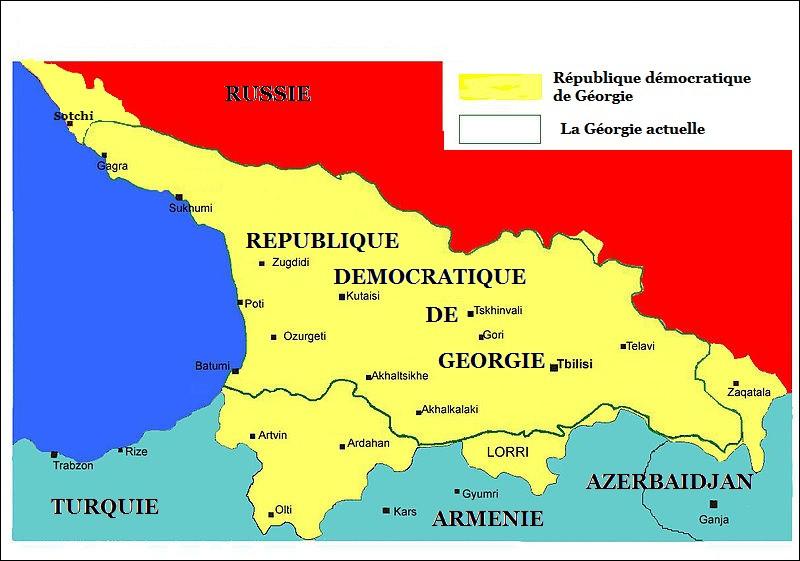 Quelle mer borde la Géorgie ?