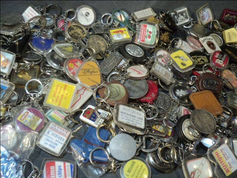 Par quel mot désigne-t-on la collection de porte-clés ?