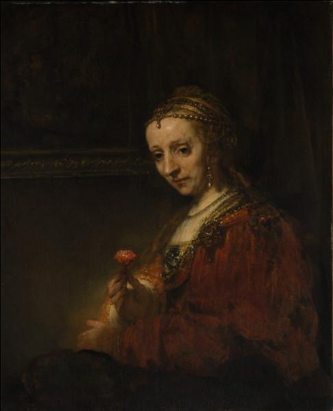 """Qui a peint """"Femme avec une rose"""" ?"""