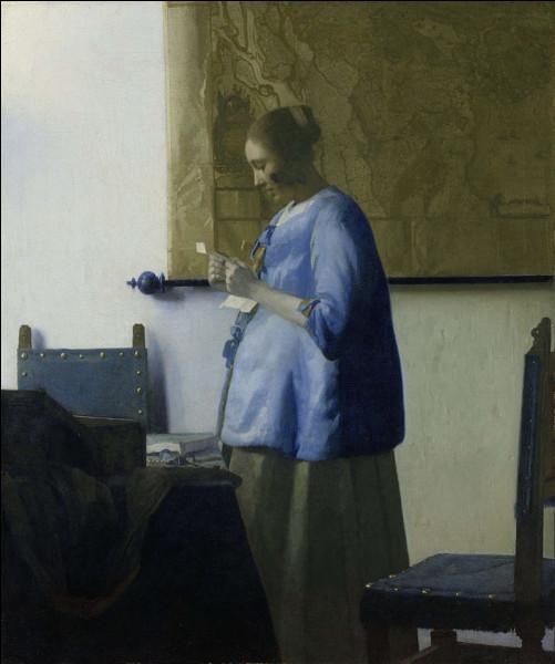 """Qui a peint """"Femme en bleu lisant une lettre"""" ?"""