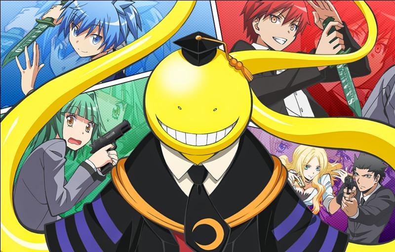 Quel est le nom du manga racontant l'histoire d'un poulpe géant qui est professeur et qui doit être tué à la fin de l'année par ses élèves devenu assassins durant cette année et trouve l'intrus qui correspond à un manga excitant ?