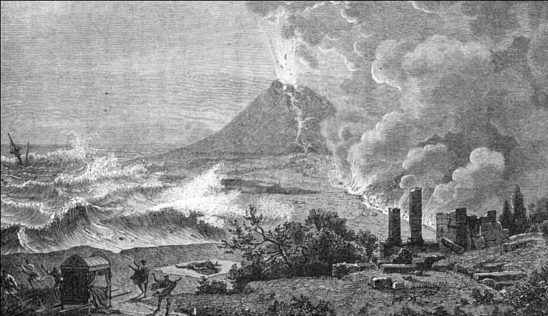 79 > Pline l'Ancien, naturaliste romain, meurt lors de l'éruption du Vésuve, lors de la destruction de Pompéi. Pourquoi donc ?