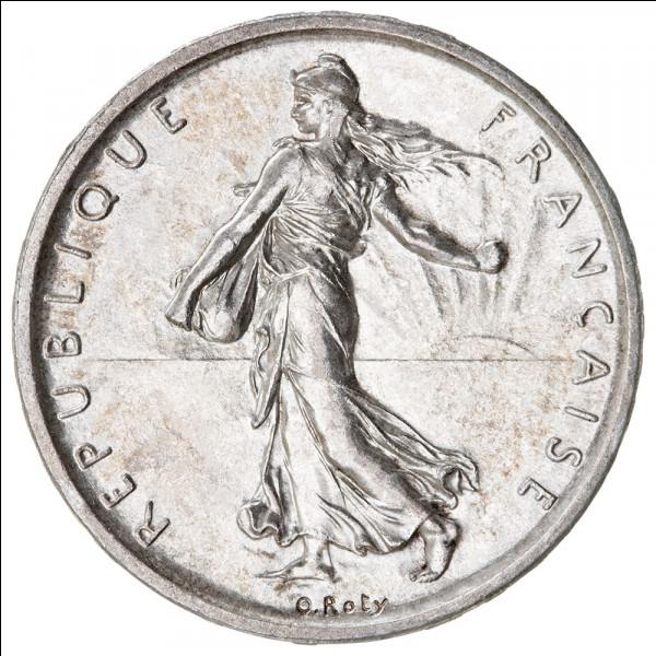 Cette femme coiffée du bonnet phrygien est gravée sur une pièce 5 francs en argent. Qui est-ce ?