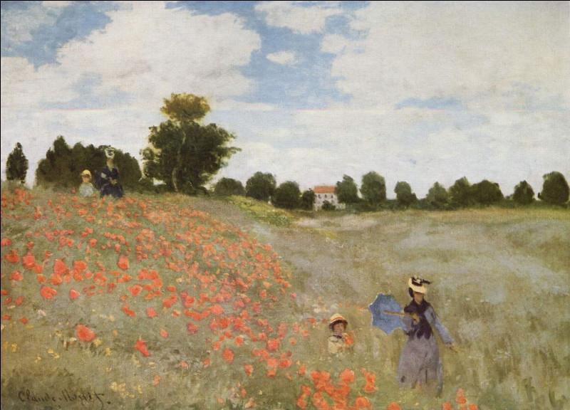 Qui a peint le tableau Les Coquelicots (ou Coquelicots, la promenade) à Argenteuil en 1873 ?