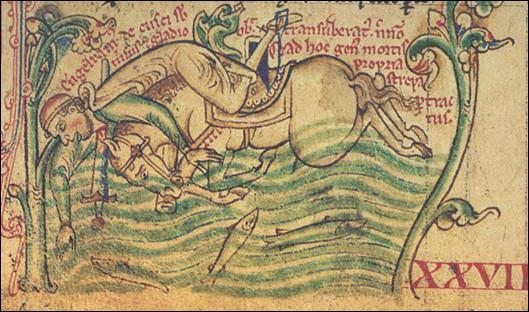 1242, Enguerrand III de Coucy, vétéran de Bouvines > Il se tue en tombant de cheval en ... (Précisez !)