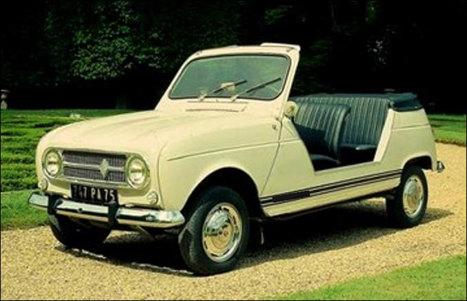 Est-ce la Renault 4 série spéciale Camping de 845 cm3 ?