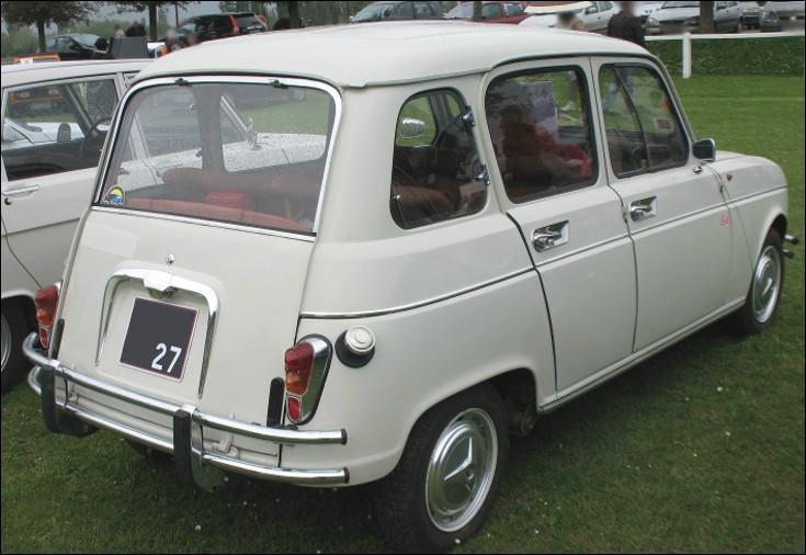 Est-ce la Renault 4 Super caractérisée par un hayon basculant ?