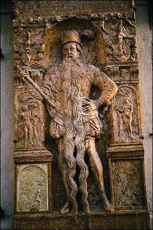 1567, Hans Steininger, maire de Braunau-am-Inn (AUT) > Celui-ci serait mort tout seul et sans artifice, le coup brisé en ... (Complétez !)