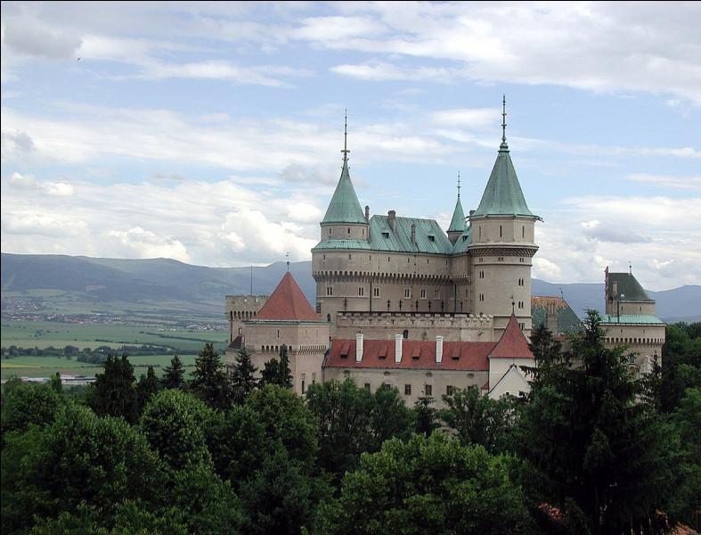 C'est en Slovaquie, dans la petite ville de Bojnice, que vous verrez ce château à l'allure romantique :