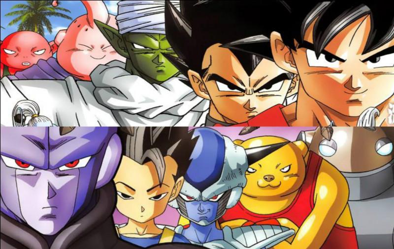 Qui s'affrontent pendant le premier match univers 6 contre univers 7 ?
