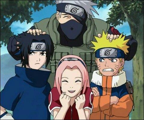 De quelle équipe Kakashi, Sasuke, Sakura et Naruto font-ils partie ?