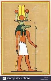 Comment s'appelle le dieu egyptien avec une tête de reptile ?