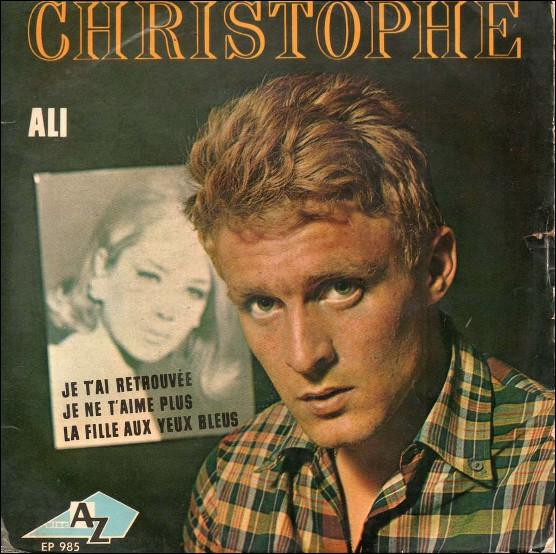 Quel prénom est mis à l'honneur dans une chanson de Christophe de 1965 ?