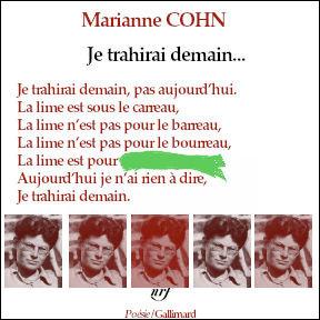 Marianne Cohn était-elle résistante avant d'être poète ? Un mot nous manque...