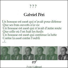 """Qui est l'auteur célèbre de """"Liberté"""" et ce poème à Gabriel Péri ?"""